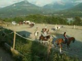 Spéctacle, caroussel à cheval répétition
