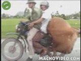 Regis se balade en moto en famille.