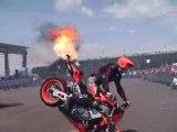 Stunt Moto flamme 13éme GTI tuning