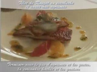 Recette de filet de rouget en escabèche et sauce aux agrumes