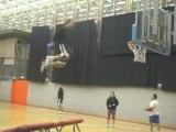 paniers acrobatiques au basket-ball