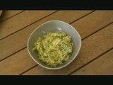 courgettes râpées au parmesan et basilic