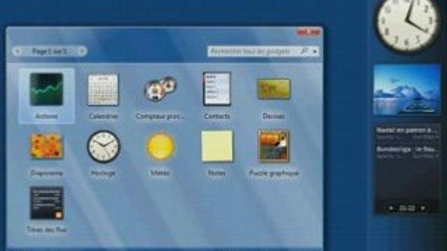 Gestion des gadgets sous Windows Vista