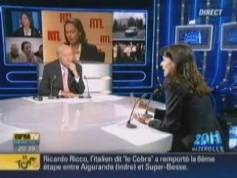 S. Royal : Aurélie Filippetti interview sur BFM TV