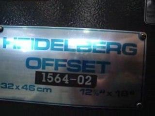 Machine offset-HEIDELBERG GTO 46 ref 01165 morlans euroma