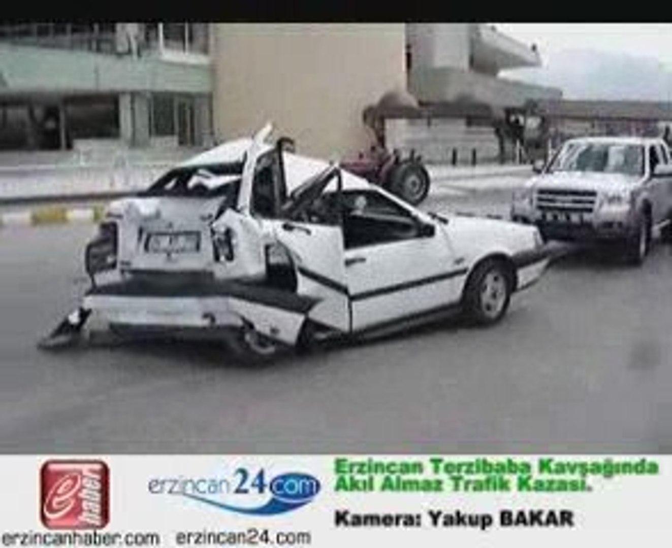 Erzincan 24 haber trafik kaza ölüm yaralı fiat tempra