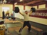 Athle Dariusz Slowik Entrainement lancer disque muscu