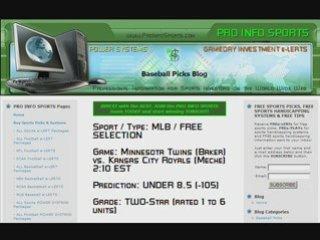 FREE MLB Baseball Picks August 10, 2008