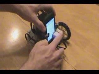 IPhone Lego Mindstorms NXT Robot Demo