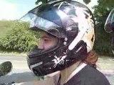 Quand je nous filme en live sur la moto