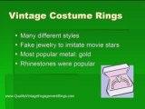 Vintage Costume Rings