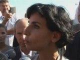 Rachida Dati sur le chantier de la nouvelle prison de Corbas