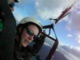 Bapteme parapente dessus du lac d'Annecy depuis la Forclaz