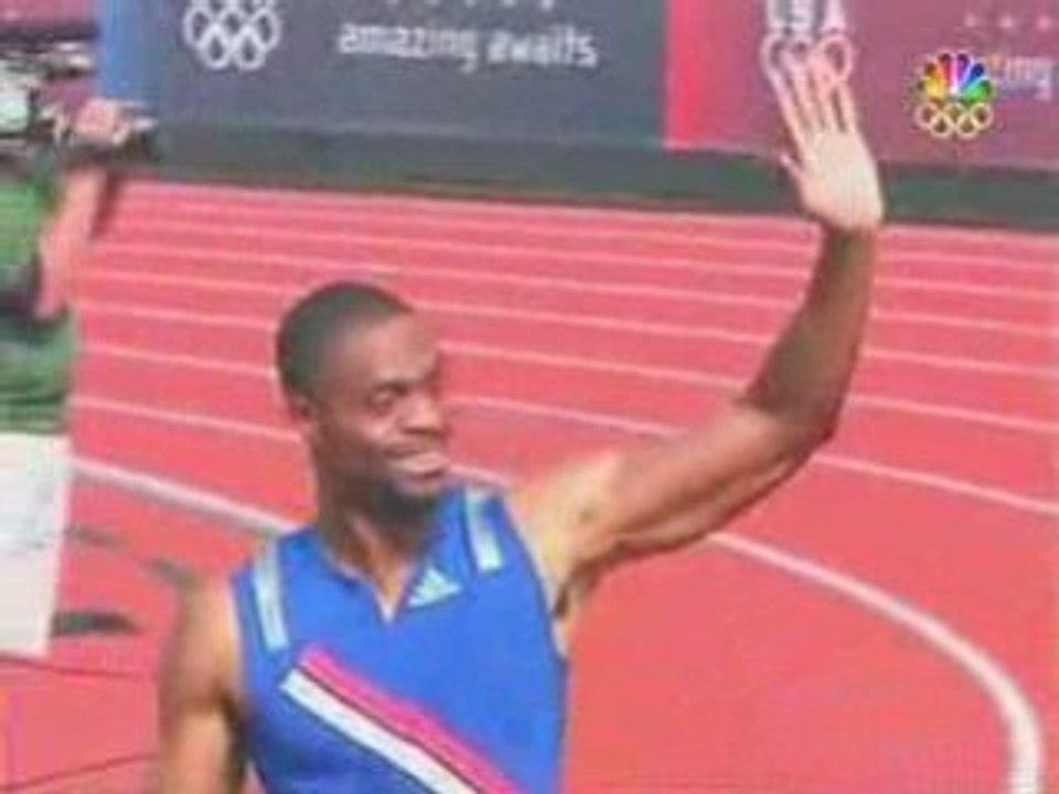 Athlé sprint 100m Tyson Gay 968 ( +4,1 m/s ) - Vidéo