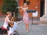 Musique dans les rues de Vérone un dimanche après-midi