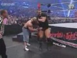 Randy Orton gives Cena an RKO on a steel chair at SNME (HQ)