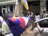 manif RSF Tibet JO - paris 08-08-08 ambassade chine video 1