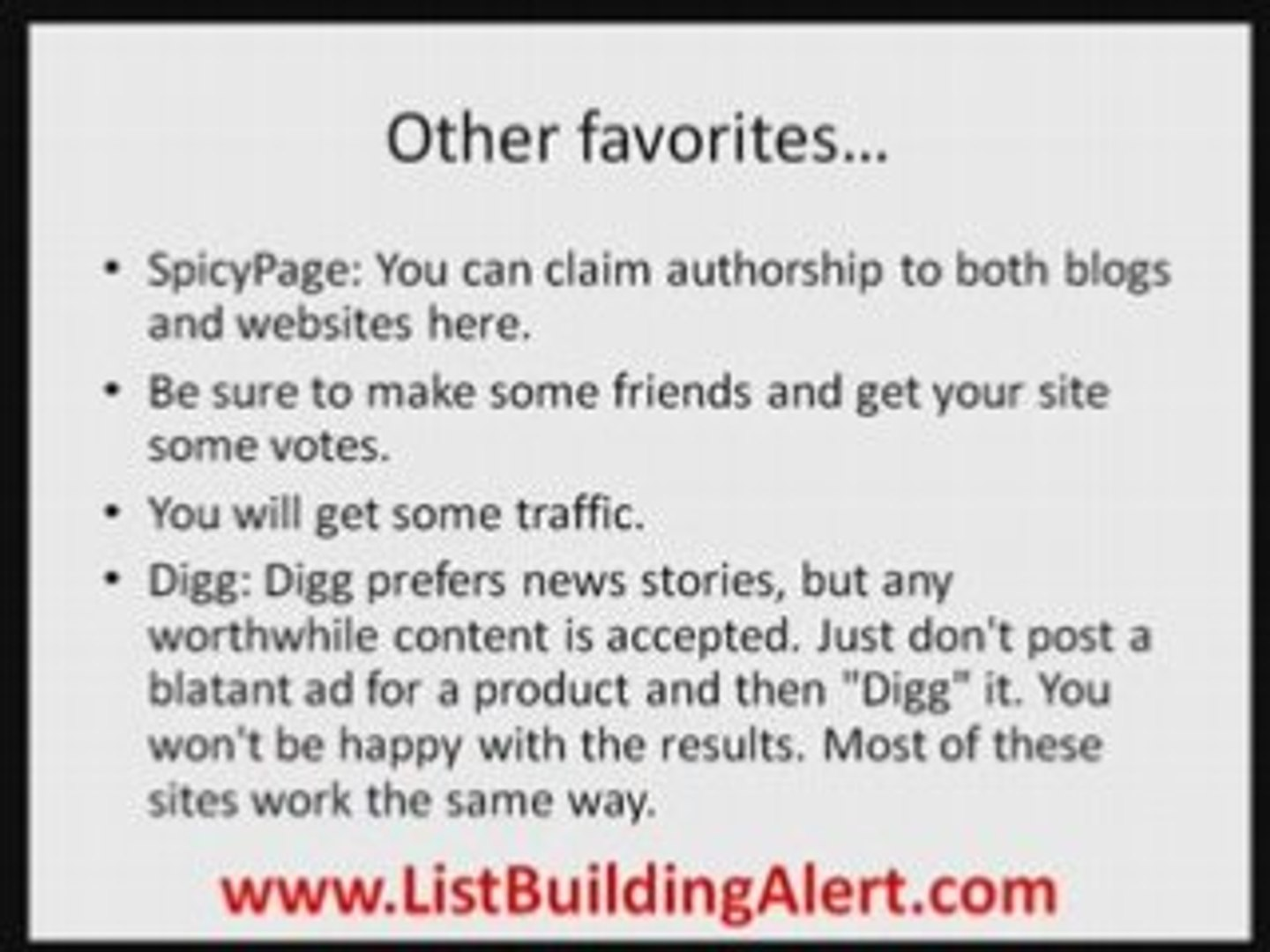List Building and Traffic with Blogs