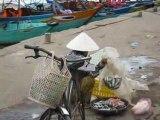 Marchande de poissons à Hoi An