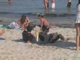 Des Plongeurs à la plage...