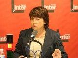 Martine Aubry - France Inter