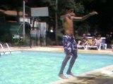 Mon salto arriere a la piscine