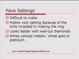 Pave Engagement Ring Settings