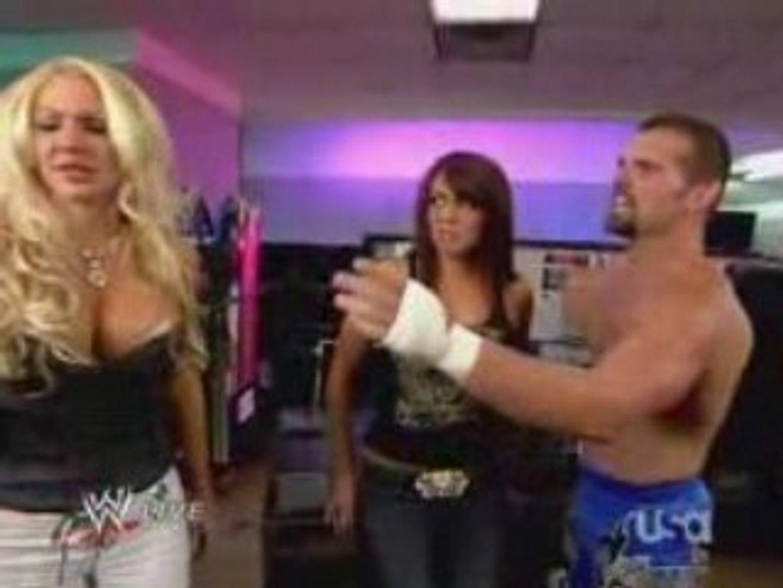 WWE Raw 09.08.08 Layla w/Noble BackStage
