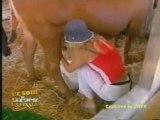 Eve Angeli - Concours de traite des vaches