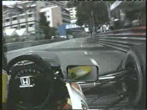 Caméra embarquée Senna - Monaco(1991)