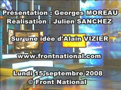 Flash info du  Front  National du 15 septembre 2008
