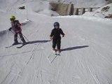 Solène fait du ski à Orcières