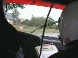 camera embarque rally du bocage 2008 crash 2eme special aban