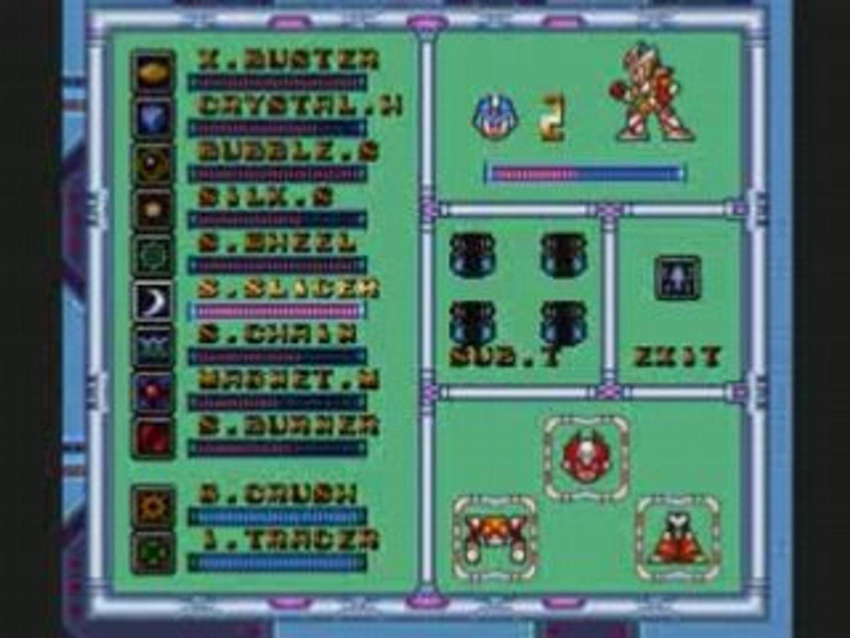 Megaman X2 , 10) Les boss avec Merci !