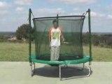 Petit trampoline avec filet 2m50
