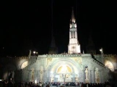 Lourdes End of the Cadlelight Procession