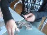 créer des bijoux en papier d'aluminium