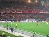 PSG-GF38 But d'Akrour vu des tribunes du Parc