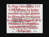 CHAVEZ renuncio        !