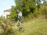 Saut & chute MTB ( bois vidal 12.10.2008 )