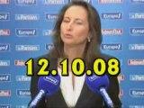 Ségolène Royal sur Europe1 le 12.10.08 (extraits)
