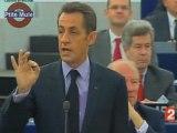 Sarko socialiste devant le Parlement Européen
