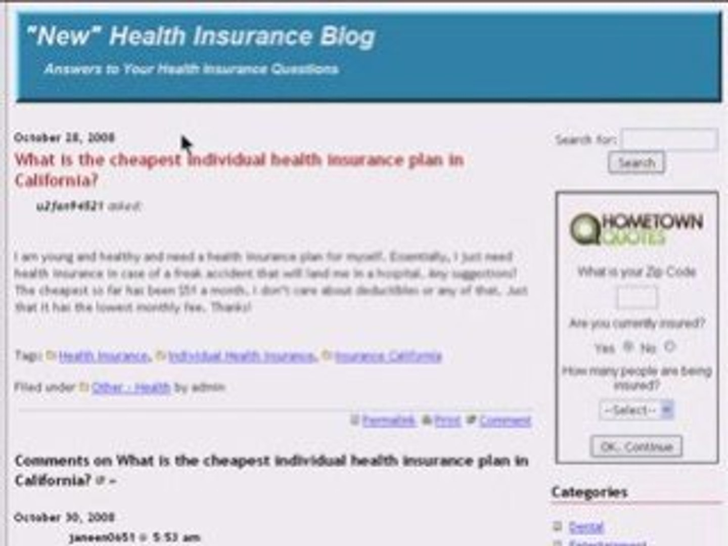 Health Insurance California >> Health Insurance Questions Answered