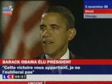 OBAMA S'ADRESSE A TOUS