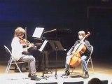 Trio de la classe de musique de chambre