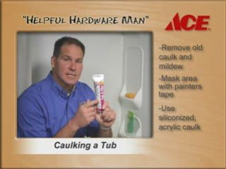 Caulking a Tub