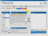 Quick Article Pro Article Writing Marketing Software Review