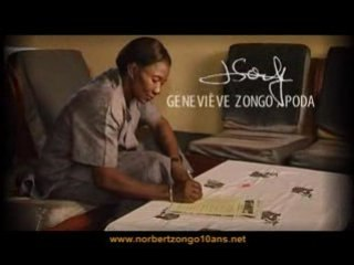 Pétition Norbert Zongo 10 ans - Geneviève Zongo