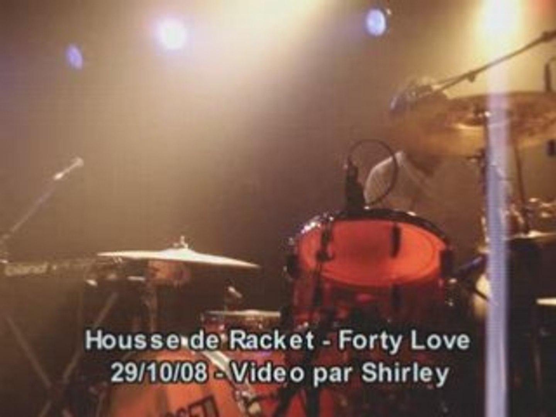 Housse de racket forty love boule noire