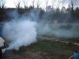 205 tuning gti Smoke kit fumée a gogo rupteur retour de flam